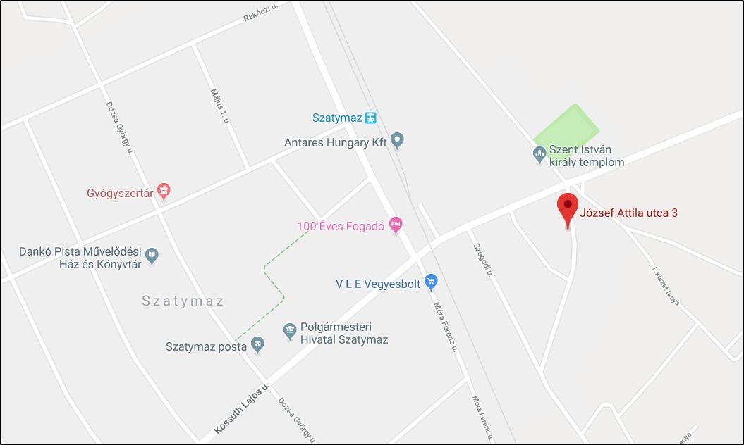 Szatymazi Óvoda, József A. u. 3. - Google Térkép