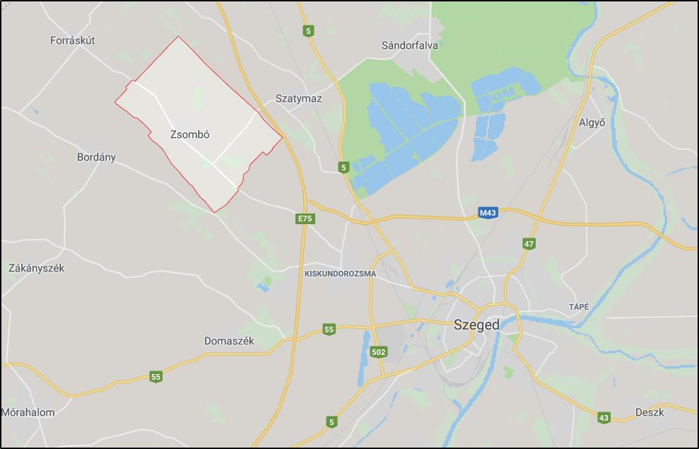 Zsombó - Google Térkép